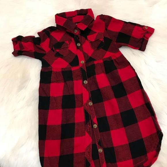 8f1bdf3898 Plaid Flannel Utility Shirt Dress for Girls. M_5b5ce2705bbb8029d8606405
